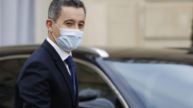 Le ministre de l'Intérieur Gérald Darmanin quitte l'Elysée, à Paris, le 2 décembre 2020. (THOMAS COEX / AFP)