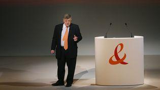 Didier Lombard, PDG de France Télécom, lors d'une assemblée générale de l'entreprise, à Paris, le 26 mai 2009. (MAXPPP)