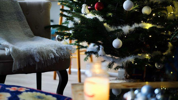 Des décorations de Noël dans une maison à Lons-le-Saunier (Jura), le 30 novembre 2020. (PHILIPPE TRIAS / MAXPPP)