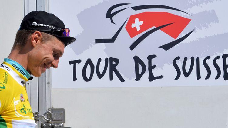 La joie de Tony Martin, toujours leader sur le Tour de Suisse (DE WAELE TIM / TDWSPORT SARL)
