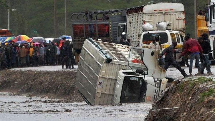 De fortes averses inhabituelles ont marqué le début de la saison des pluies en 2018 au Kenya. Des phénomènes appelés à se répéter plus souvent avec le réchauffement climatique. (Tony Karumba/AFP)
