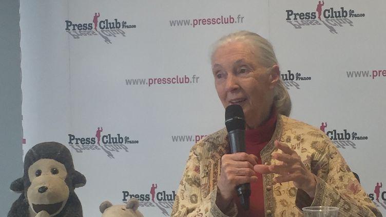 Jane Goodall.  (BERNARD THOMASSON / RADIO FRANCE)