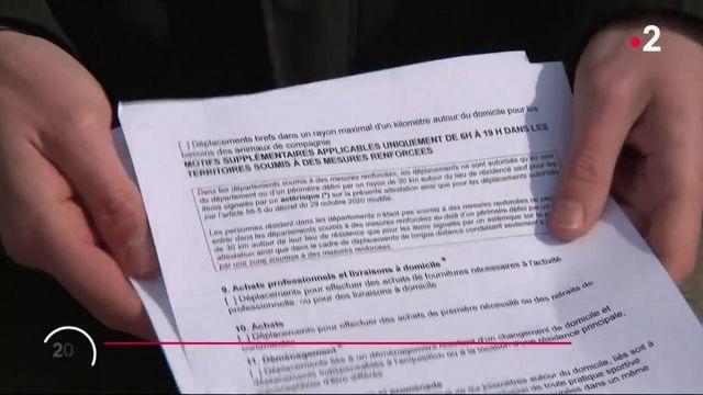 Reconfinement de 16 départements  : le couac de la nouvelle attestation de déplacement