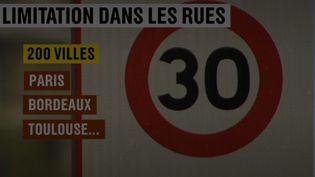 De nombreuses villes, notamment à Grenoble (Isère), ont opté pour une limitaiton à 30 km/h sur une grande partie des voies de circulation. (CAPTURE ECRAN FRANCE 2)