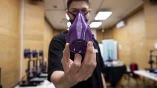 Le Chili a recours aux nanoparticules de cuivre pour fabriquer des masques faciaux dans la lutte contre le coronavirus (photo d'illustration). (MARTIN BERNETTI / AFP)