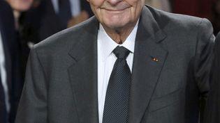L'ancien président de la République, Jacques Chirac, lors d'une cérémonie de sa fondation au Quai Branly, à Paris, le 21 novembre 2014. (PATRICK KOVARIK / AFP)