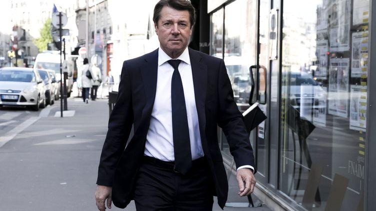 Christian Estrosi lors de la réunion des ténors du parti Les Républicains le 24 avril 2017 à Paris. (VINCENT ISORE / MAXPPP)