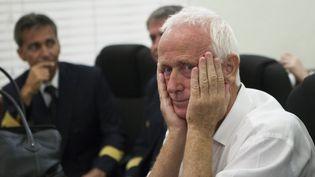 """Alain Castany assiste au procès """"Air Cocaïne"""" au tribunal de Saint-Domingue (République dominicaine), le 9 mars 2015. (ERIKA SANTELICES / AFP)"""