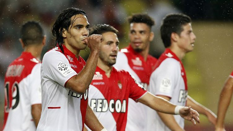 Falcao et ses camarades (VALERY HACHE / AFP)