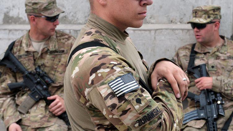 Des soldats américains en poste à Jalalabad, dans l'Est de l'Afghanistan.Photo d'illustration.   (MANJUNATH KIRAN / AFP)