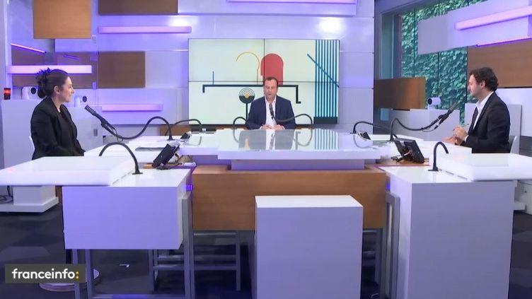 Sur le plateau des débats de l'éco, le 4 octobre 2020 (RADIO FRANCE)