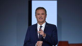 Nicolas Dupont-Aignan, candidat à la présidentielle, le 21 février 2017 àParis. (LIONEL BONAVENTURE / AFP)