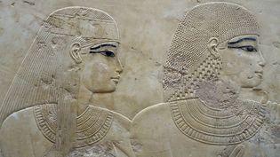 Sur le site archéologique de Louxor, à Thèbes, en Egypte : bas-relief de la tombe de Ramose dans la vallée des nobles  (DAN SHANNON / ONLY WORLD / ONLY FRANCE)