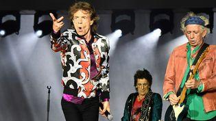 Mick Jagger, Ronnie Wood et Keith Richards : les Rolling Stones au Stade Vélodrome de Marseille le 26 juin 2018  (Boris Horvat / AFP)