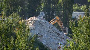 Recyclage de matériaux de construction. (BRUNO LEVESQUE / MAXPPP)