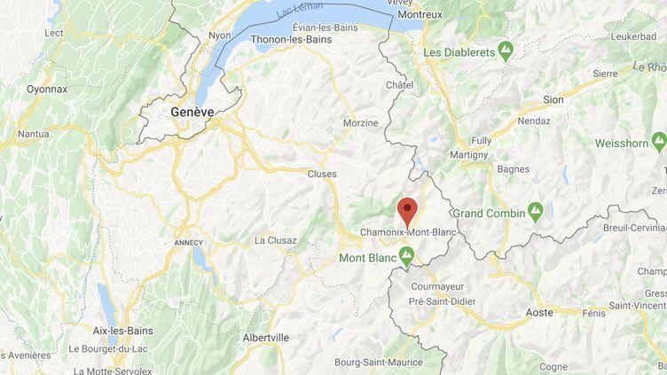 Depuis le début du déconfinement, 17 personnes sont mortes sur le Mont-Blanc et les massifs alentours. (GOOGLE MAPS)