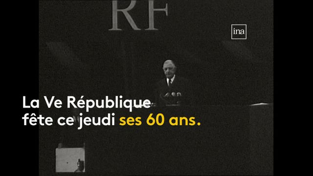 De Gaulle présente la Constitution