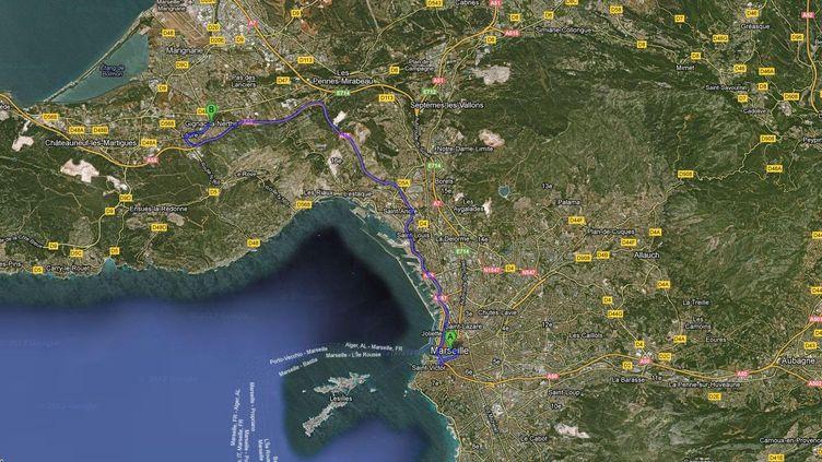 """Il a été violemment battu après avoir été emmené dans une voiture. Il pourrait s'agir d'un nouveau règlement de comptes, selon """"La Provence"""". (FTVI / GOOGLE MAPS)"""