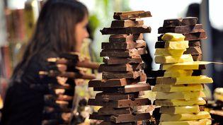 """Le""""Salon du Chocolat"""" de Lille le 9 mars 2012. (PHILIPPE HUGUEN / AFP)"""