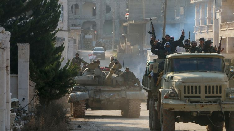 Des soldats de l'armée syrienne à Kafr Hamrah (Syrie), le 17 février 2020. (AFP)