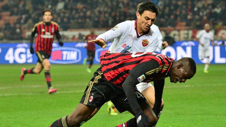 A l'instar de Mario Balotelli, les Milanais y ont cru jusqu'au bout. (GIUSEPPE CACACE / AFP)