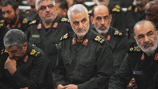 Qassem Soleimani, photographié lors d'une réunion des Gardiens de la révolution iraniens, le 18 septembre 2016 à Téhéran. (Press Office of Iranian Supreme Leader / ANADOLU AGENCY / AFP)