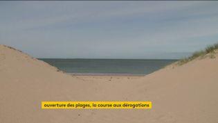 Une plage de la Manche (franceinfo)