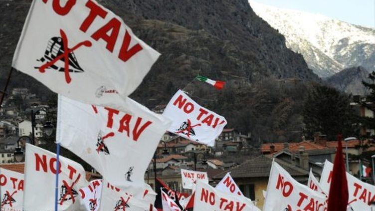 Manifestation contre le TGV Lyon-Turin à Susa (Italie) le 6 décembre 2008 (image d'archives) (AFP - Giuseppe Cacace)