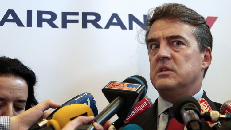 Le PDG d'Air France Alexandre de Juniac, le 21 juin 2012, à Roissy-en-France (Val-d'Oise). (JACQUES DEMARTHON / AFP)