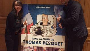 """Marion Montaigne et Thomas Pesquet pour la sortie du livre """"Dans la combi de Thomas Pesquet"""" (SOPHIE BRIA / RADIO FRANCE)"""