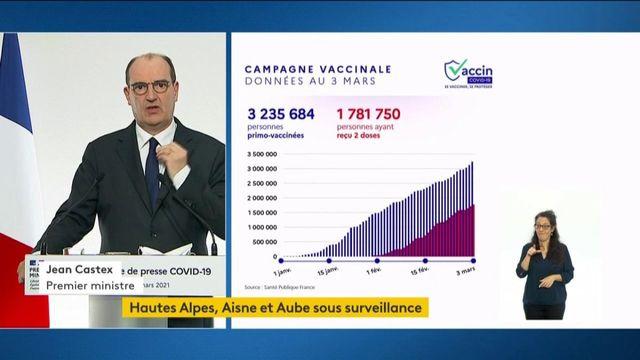Covid-19 : Jean Castex fait le point sur l'avancée de la campagne vaccinale, notamment dans les Ehpad