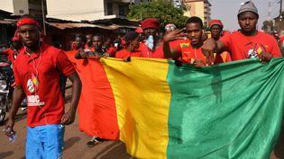 A Conakry, d'importantes manifestations ont eu lieu le 6 janvier 2020 contre l'intention prêtée au président Alpha Condé de briguer un troisième mandat. (CELLOU BINANI / AFP)
