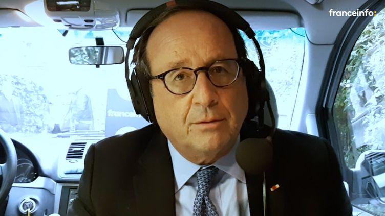 François Hollande invité du 18H50 franceinfo, vendredi 25 septembre 2020. (FRANCEINFO / RADIOFRANCE)