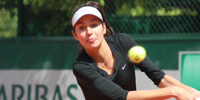 Océane Dodin, aux qualifications de Roland-Garros en 2013