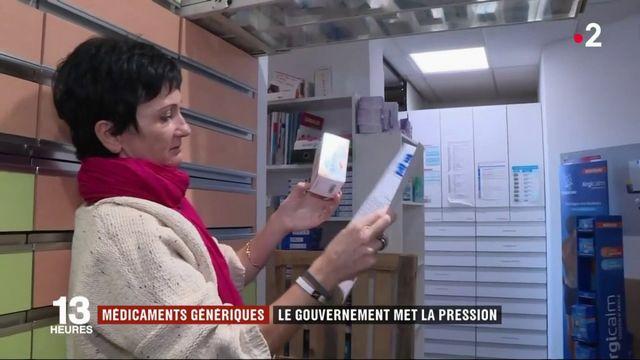 Médicaments génériques : le gouvernement met la pression