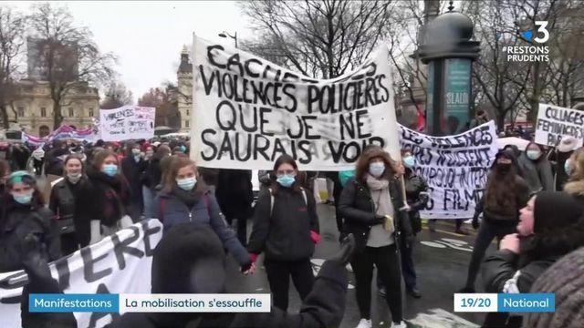"""Rassemblements contre la loi """"sécurité globale"""" : les manifestations s'essoufflent"""