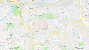 Capture d'écran Google maps des Lilas, en Seine-Saint-Denis. (GOOGLE MAPS)