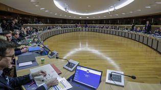 Les négociation sur la future relation entre britanniques et européens à Bruxelles, le 2 mars 2020. (OLIVIER HOSLET / POOL)
