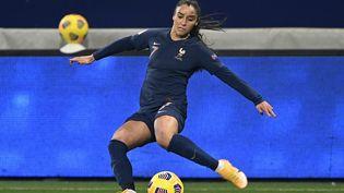 Sakina Karchaoui lors du match France-Autriche, le 27 novembre 2020, en Autriche. (PHILIPPE RENAULT / MAXPPP)