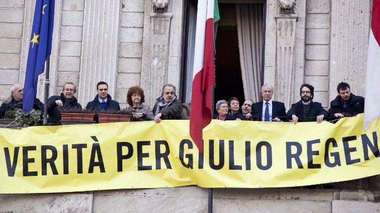 Les Italiens mobilisés pour obtenir la vérité sur la mort au Caire de l'étudiant Giulio Regeni, ici à Milan le 2 mars 2016. (Federico Ferramola/NurPhoto)