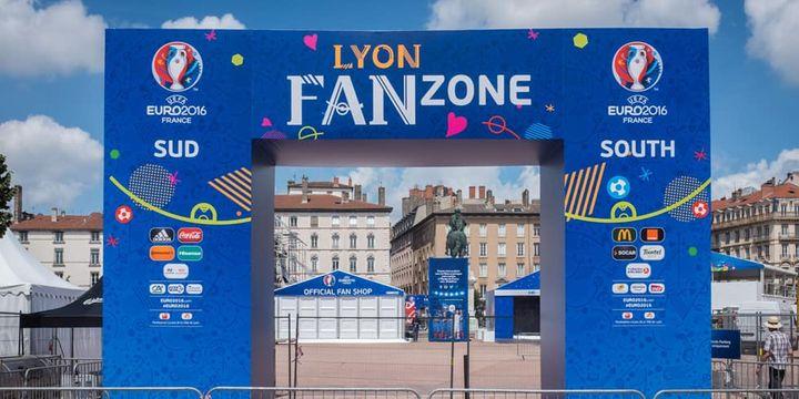 L'entrée de la fan zone de Lyon
