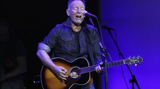 Bruce Springsteen joue au concert de charité Stand Up For Heores au Madison Square Garden de New York (Etats-Unis), le 4 novembre 2019. (GREG ALLEN/ AP/ SIPA)