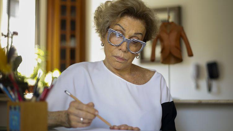 La mannequin et designer brésilienne Helena Schargel, 79 ans, à Sao Paulo au Brésil en novembre 2019 (MIGUEL SCHINCARIOL / AFP)