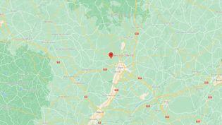 L'avion s'est écraséprèsd'un aérodrôme à Darois, près de Dijon (Côte-d'Or), vendredi 10 septembre. (GOOGLE MAPS)