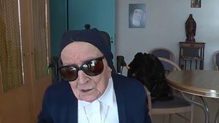 Soeur André, doyenne des Français, le jour de ses 115 ans (CAPTURE D'ÉCRAN FRANCE 3)