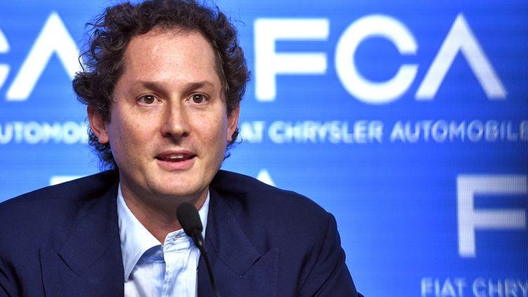 John Elkann, le patron de Fiat Chrysler, le 1er juin 2018 à Balocco (Italie). (PIERO CRUCIATTI / AFP)