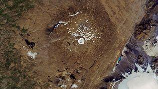 Le sommet du volcan Ok, en Islande, où le glacier a été déclaré mort en 2014. (NASA / AFP)