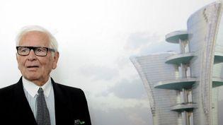 Pierre Cardin présente son projet de Palais Lumière à Venise, août 2012  (T. Fabi (AFP))