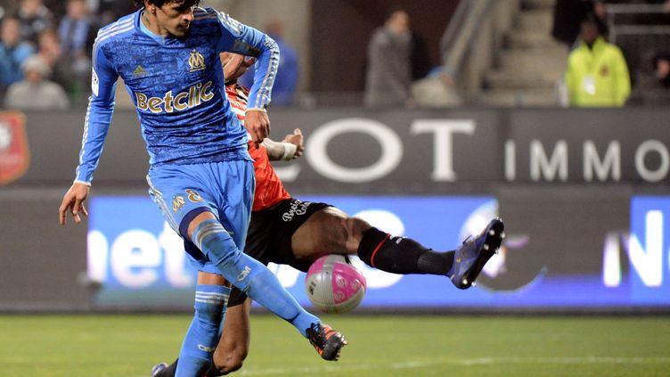 Lucho Gonzalo sous le maillot de l'OM (DAMIEN MEYER / AFP)