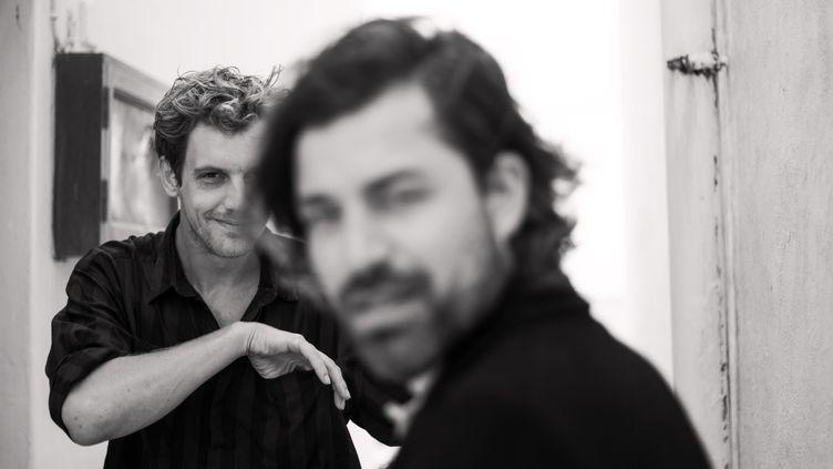 Maarten Devoldere (au fond) et Jinte Deprez, les deux inséparables de Balthazar. (Athos Burez)